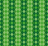 Festive Irish Tartan Diamond Seamless Pattern For St Patricks Day poster