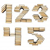 Numbers of books.