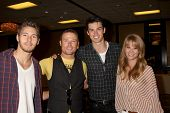 LOS ANGELES - AUG 27:  Scott Clifton, Jacob Young, Adam Gregory, Kim Matula attending the Bold & The