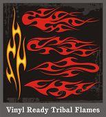 Vinyl Ready Tribal Flames