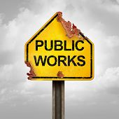 Public Works Problem And Infrastructure Issue As City Maintenance Management Failure Due To Negligen poster