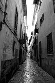 Barrio Calatrava Los Patios en Mallorca en la estrecha calle de Palma de Mallorca
