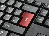 Red Key On Computer Keyboard Entitled $