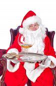 Santa offering a drink