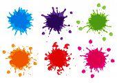 Vector Color Paint Splatter,splatter Pack Collection,illustration Vector Design poster
