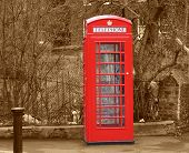 Phone Booth Box Sephia