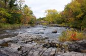 Northwoods River in Autumn