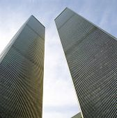Blickte zu World Trade Center Türme aus Boden