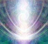 Beautiful Spiralling Vortex Healing Energy - White Light Forming A Gaseous Spiral Shape Flowing Thro poster