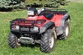 foto of four-wheeler  - An All Terrain Vehicle is useful for driving off road - JPG