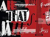 Jazz Music Festival, Poster Background Template. Flyer Vector Design. poster