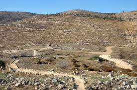 stock photo of tabernacle  - Place of the Tabernacle in Shiloh Valley - JPG