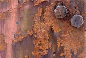 Background - Rusty Iron And Bolts