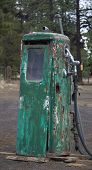 Rusty Old Green Gas Pump With Personality