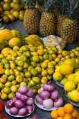 Vibrant Fruit In Outdoor Market
