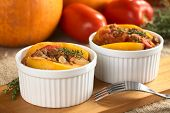 Pumpkin, Tomato and Mincemeat Dish