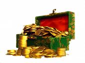 Riches, Gold Coins In A Chest