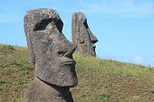 Moai in Quarry, Easter Island, Chile