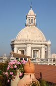 Dome Of Cathedral Of Catania, Italy