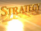 3D Strategy Gold Text