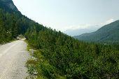 Dirt road in a mountain landscape