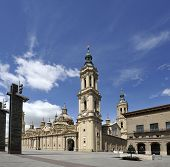Basilica-cathedral Of Our Lady Of The Pillar In Zaragoza