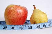 Apple And Pear With Tape Measure