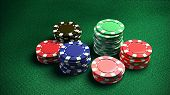 Casino 6 Of Chips Green Color Table 2