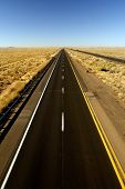 stock photo of 18 wheeler  - Driving empty Arizona I - JPG