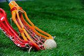 Girls Lacrosse sticks fight for the ball