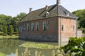 Old Antique Mansion With Moat