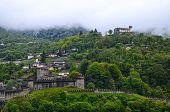 panorama of ruins of Bellinzona castle