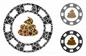 Shit Casino Chip Composition Of Joggly Parts In Variable Sizes And Color Tones, Based On Shit Casino poster
