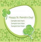 Card with green clover background.