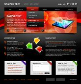 Editable Website Template 4. Color variant 4 (Red on Dark)