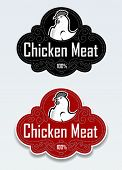 Chicken Meat Seal / Sticker in vectors