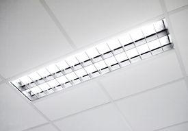 image of light fixture  - A fluorescent light set in the roof - JPG