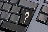 Question Mark On Black Enter Key