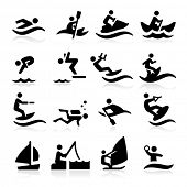 Water Sport pictogrammen