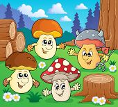 stock photo of face-fungus  - Mushroom theme image 3  - JPG