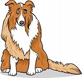 Ilustración de dibujos animados de pura raza de perro collie