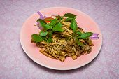 Healthy Thai Salad With Bamboo Shoots And Herb/ Yam No Mai Sai Nam Pu