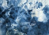 Aquarell abstrakt blau