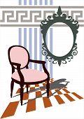 Sala de estar moderno e romântico
