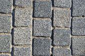 Granite Block Pavement Background