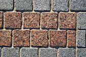Granite Block Pavement Texture Background