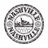 Nashville grunge rubber stamp
