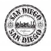 San Diego grunge rubber stmp