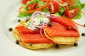Smoked Trout On Fritters