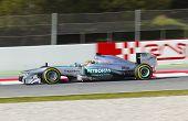 Equipes de Fórmula 1 dias de testes no circuito de Catalunya